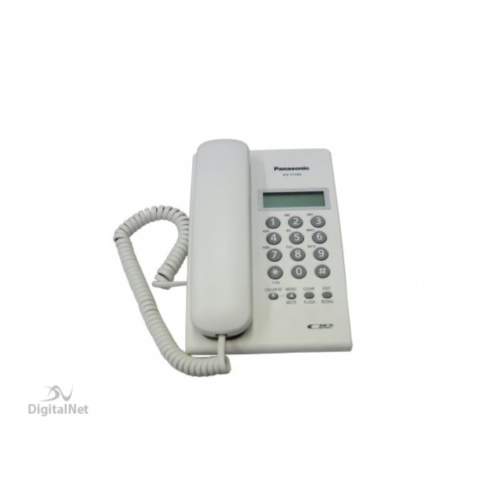 PANASONIC CORDED PHONE KX-T7703 FX WITH CALLER ID WHITE