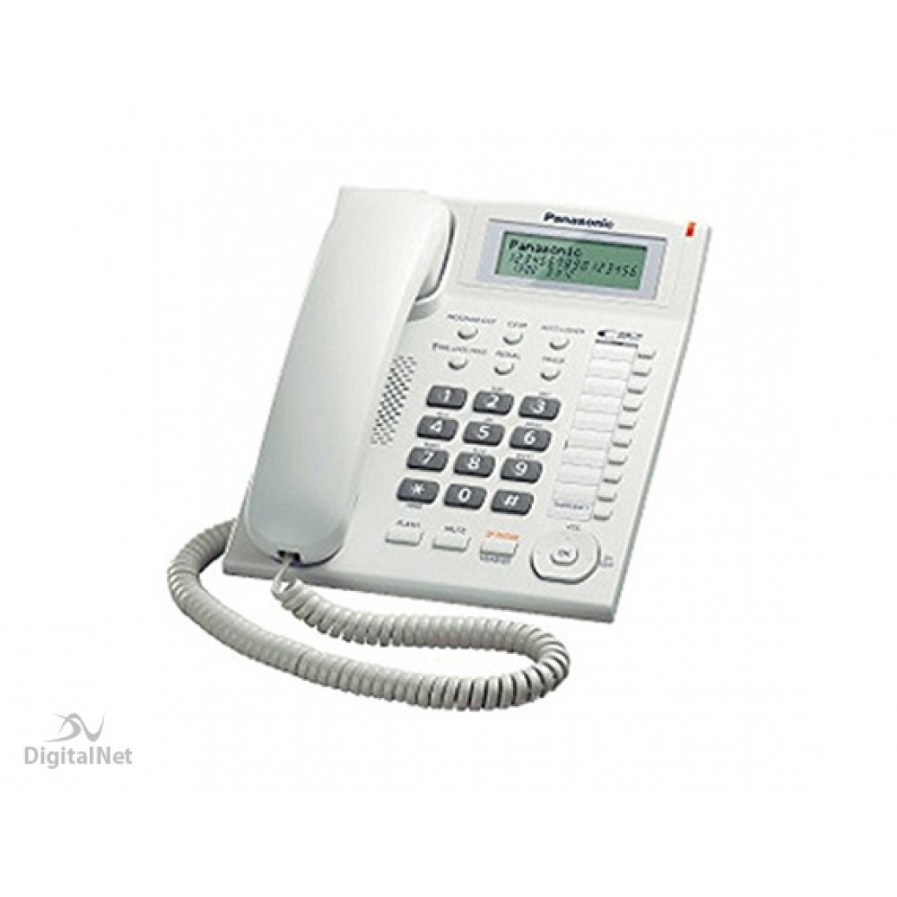 PANASONIC CORDED PHONE KX-TS880 MX WITH CALLER ID WHITE