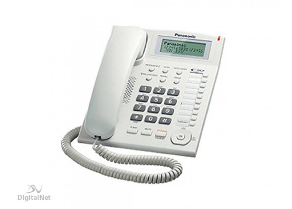 PANASONIC CORDED PHONE KX-TS880 MX WITH CALLER ID WHITE