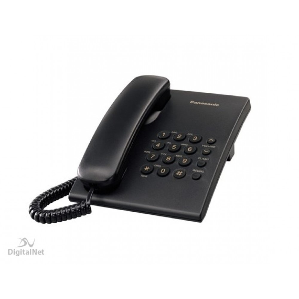 PANASONIC CORDED PHONE KX-TS500 MX BLACK