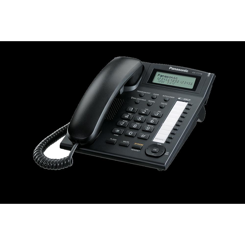 PANASONIC CORD PHONE KX-T7716 BLACK