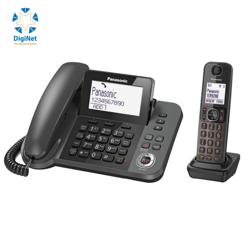 PANASONIC CORDLESS PHONE KX-TGF320 2 HANDSETS BLACK