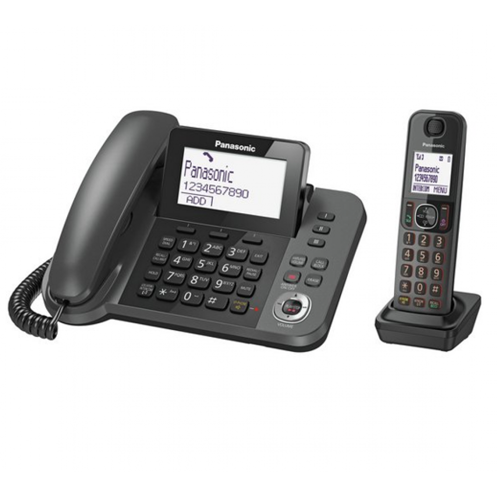 PANASONIC CORDLESS PHONE KX-TGF320 2 HANDSETS