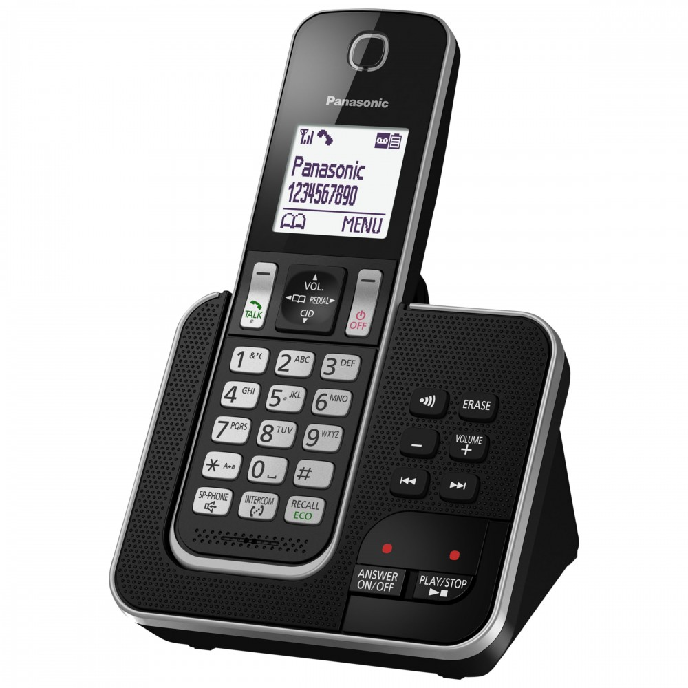PANASONIC CORDLESS PHONE KX-TDG320 BLACK