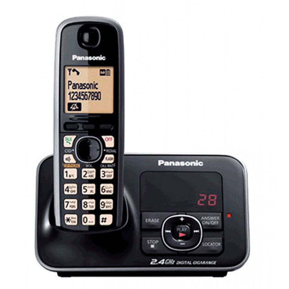 PANASONIC CORDLESS PHONE KX-TG3721BX BLACK