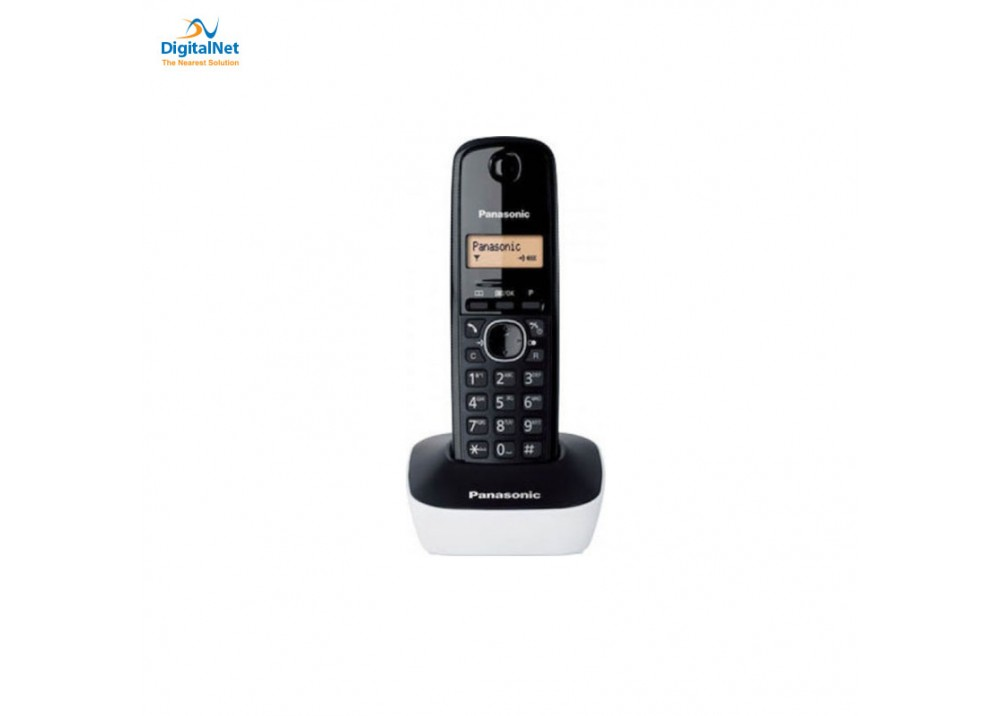 PANASONIC CORDLESS PHONE KX-TG1611 BLACK AND WHITE