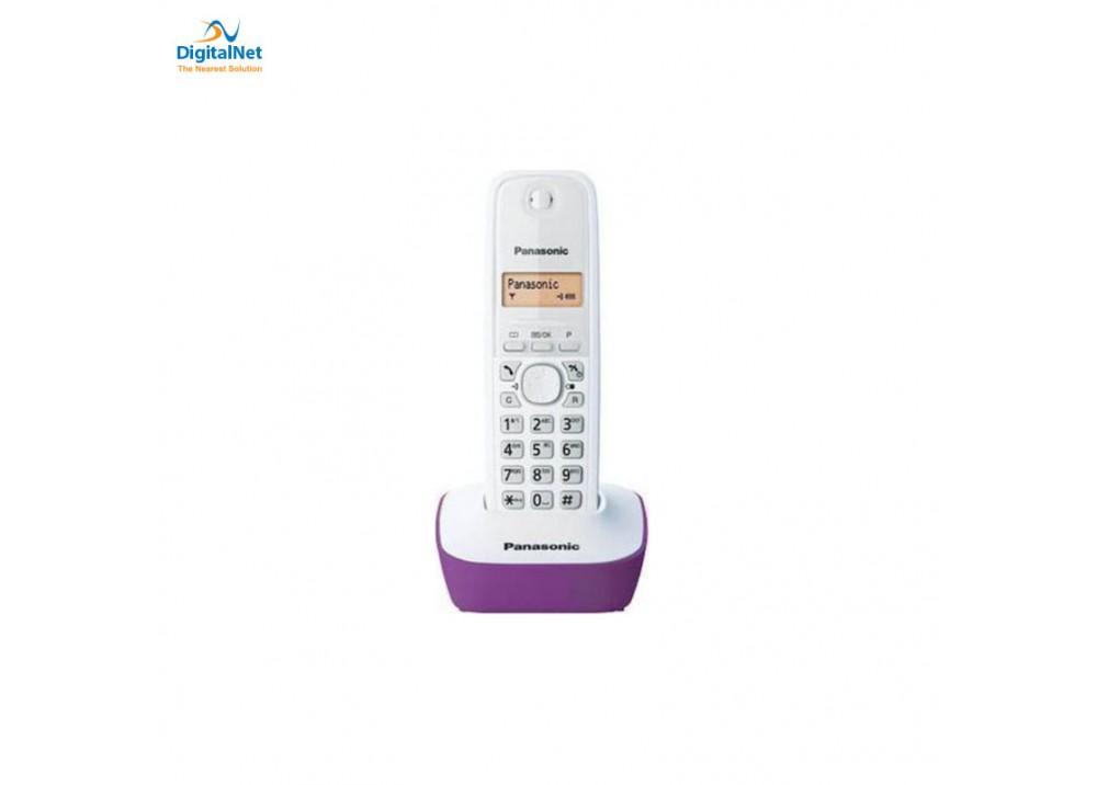 PANASONIC CORDLESS PHONE KX-TG1611 WHITE AND PURPLE