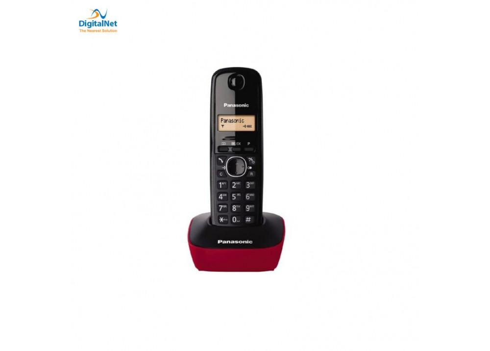 PANASONIC CORDLESS PHONE KX-TG1611 BLACK AND RED