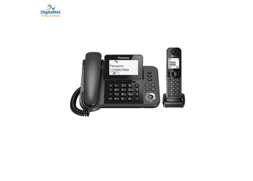 PANASONIC CORDLESS PHONE KX- TGF310 2 HANDSETS BLACK