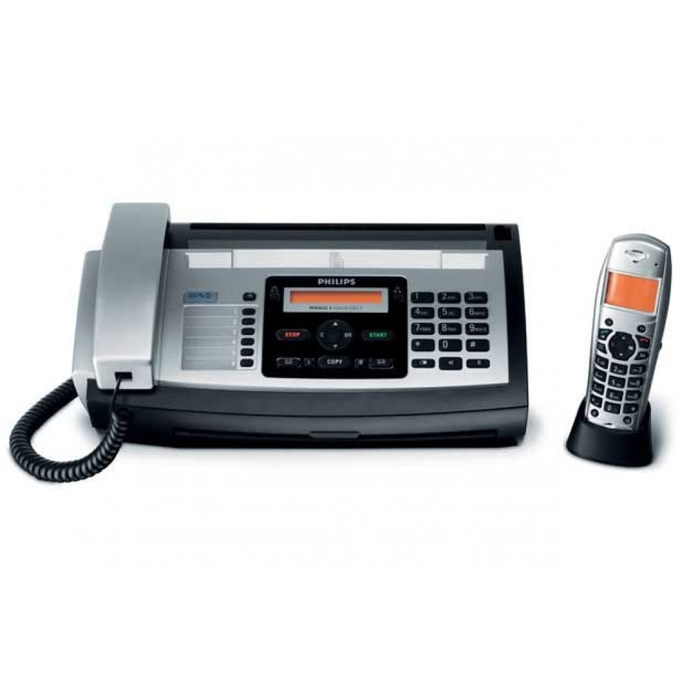 PHILIPS FAX WITH TELEPHONE-685E BLACK & SILVER