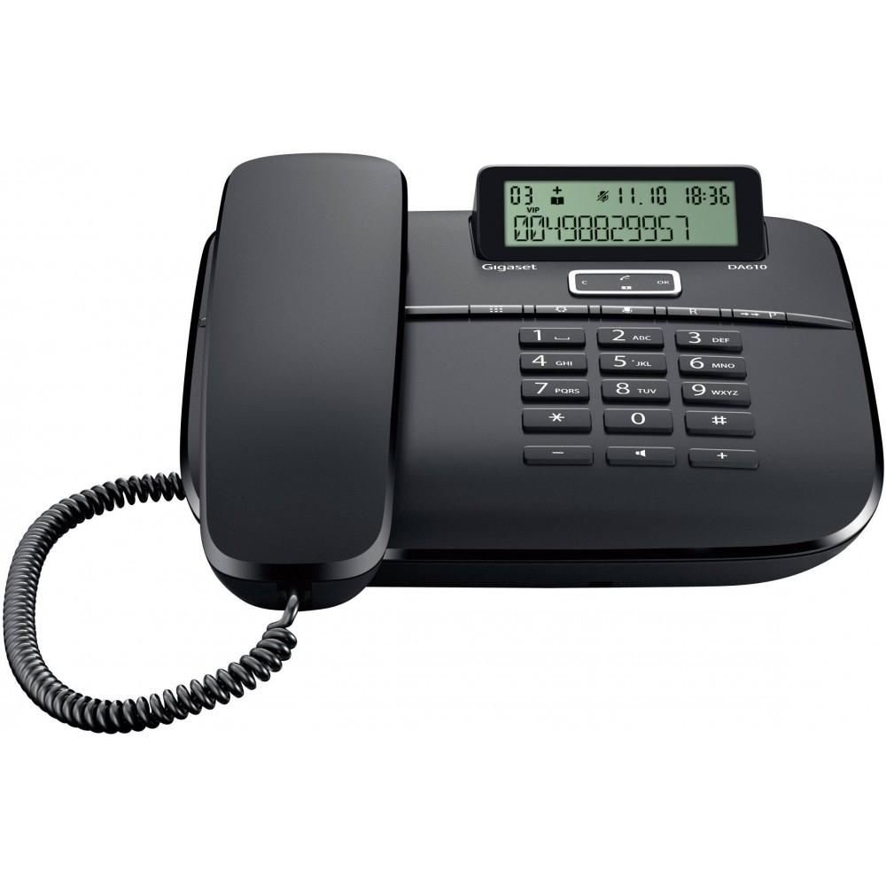 GIGASET CORDED PHONE DA610 BLACK