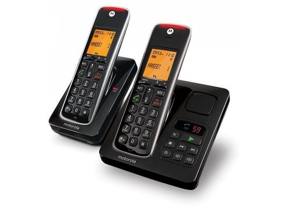 "MOTOROLA CORDLESS PHONE CD212 1.8"" AM COMBO BLACK"