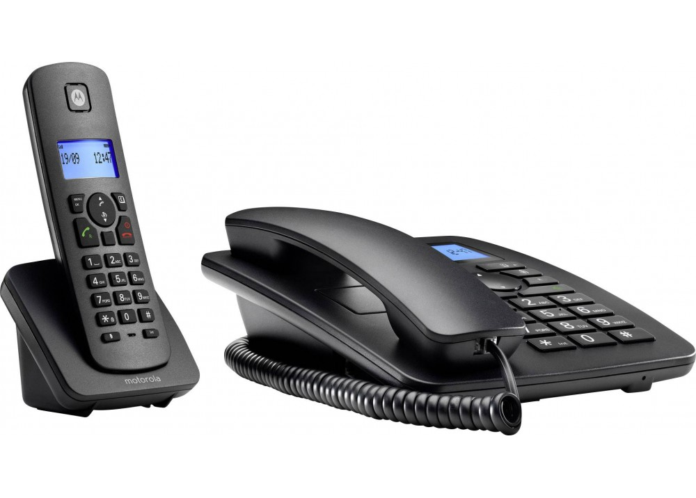 MOTOROLA CORDLESS PHONE C4201 COMBO BLACK