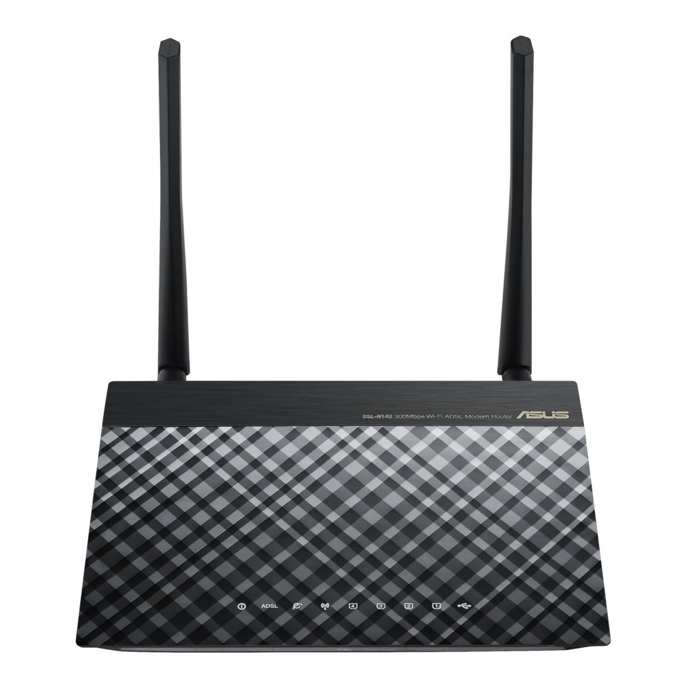 ASUS WIRELESS ADSL ROUTER N14U_B1 N300M WITH USB BLACK