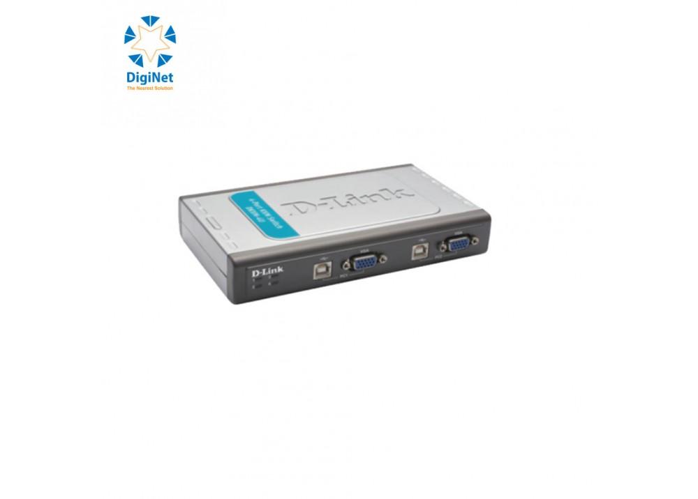 D-LINK DKVM-4U KVM SWITCH 4 PORTS USB+2 CABLE SETS