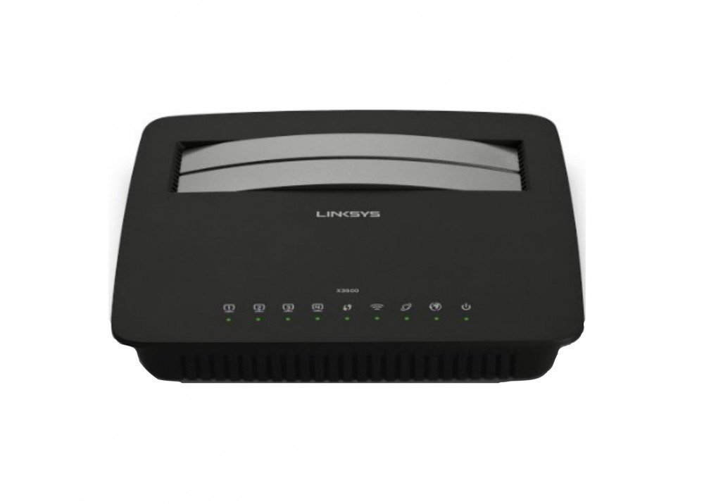 LINKSYS WIRELESS ADSL ROUTER  X3500 N750 BLACK