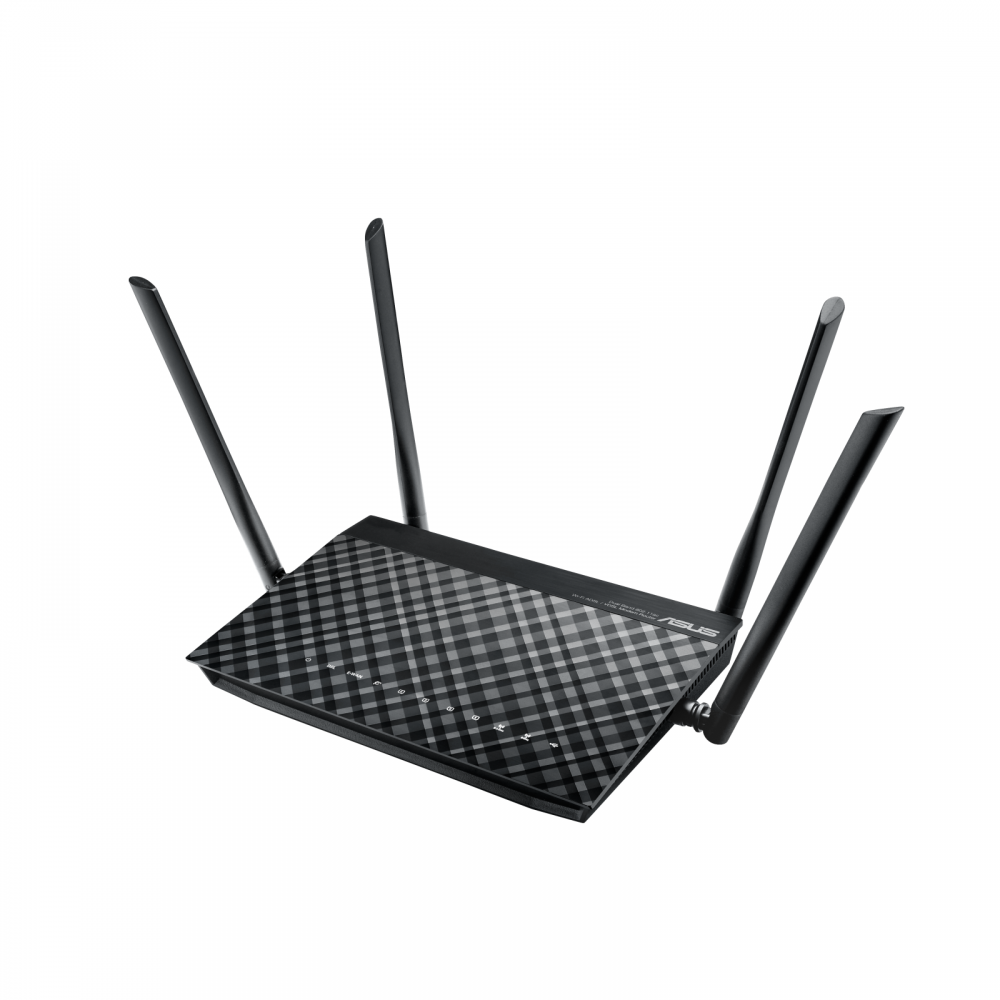 ASUS WIRELESS ADSL ROUTER DSL-AC55U AC1200 BLACK