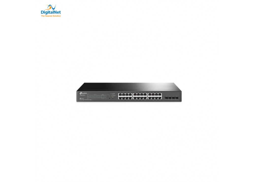 TP-LINK JETSTREAM T1600G-28PS 24- GIGABIT POE 4 SFP BLACK