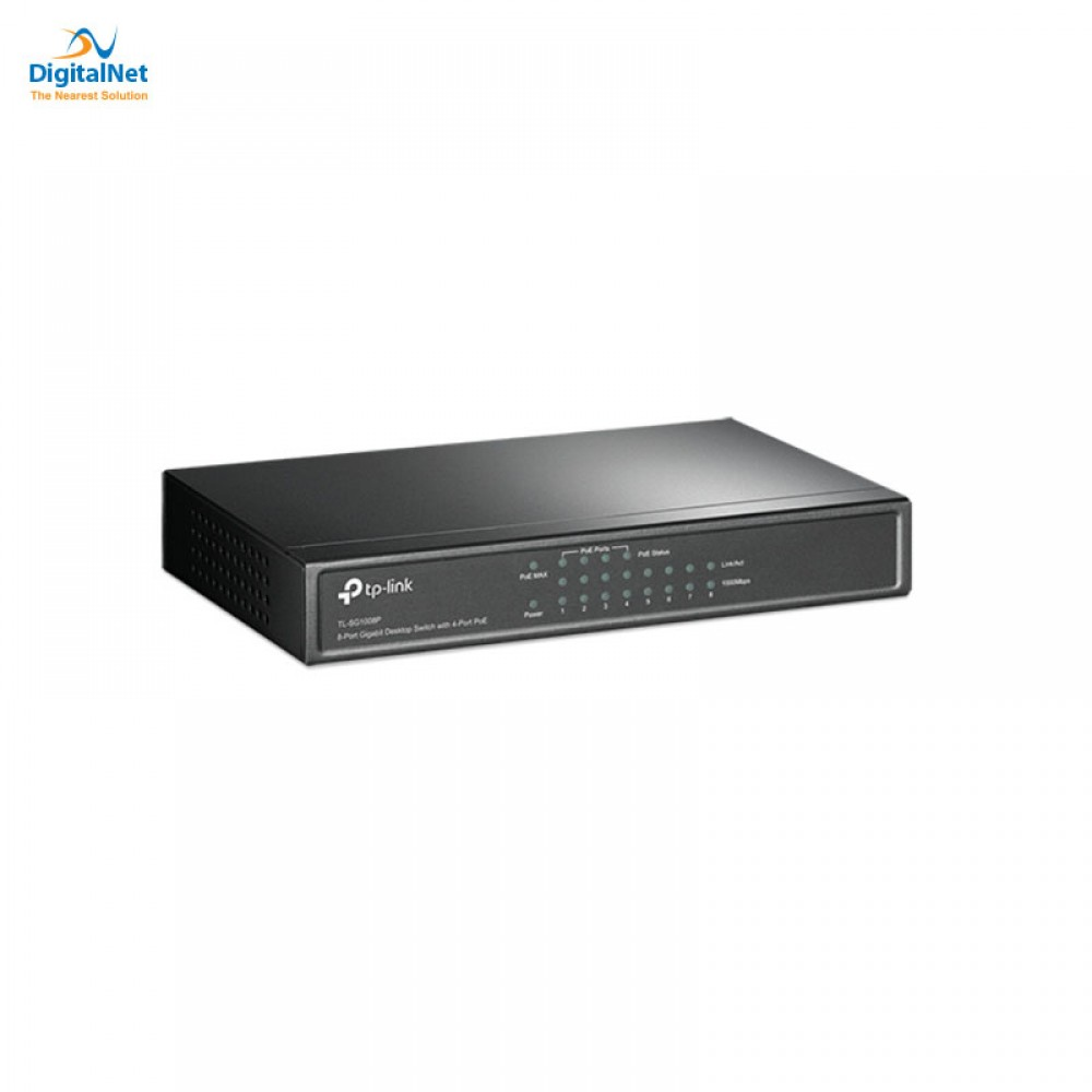 TP-LINK TLSG1008P 10/100/1000 POE4+4 SWITCH