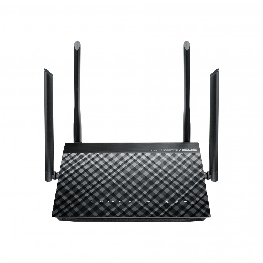 ASUS WIRELESS DSL-AC52U DUAL BAND ADSL/VDSL MODEM ROUTER