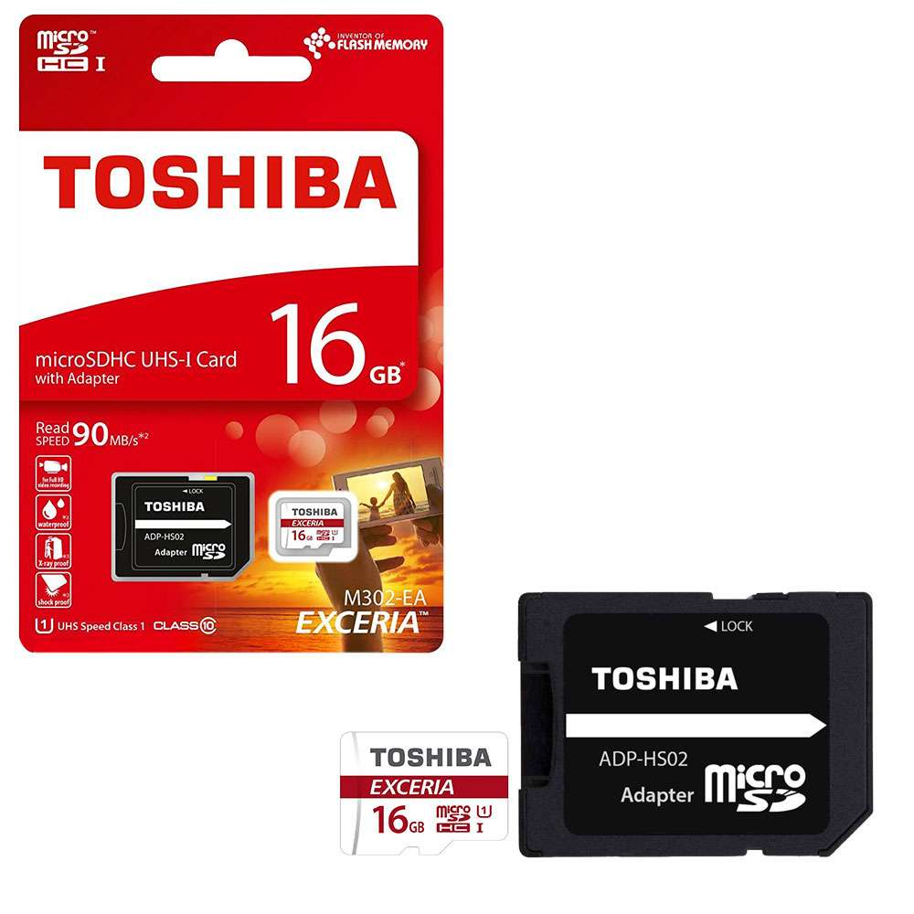 TOSHIBA MICRO SD CARD 16GB WITH ADAPTER