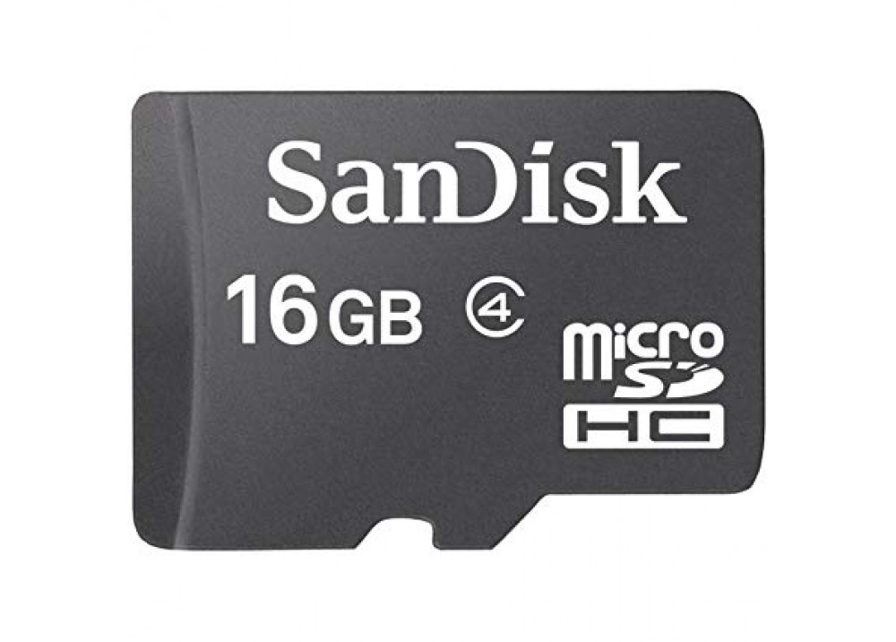 SANDISK MICRO SD CARD SDHC 16GB C4 WITH ADAPTER