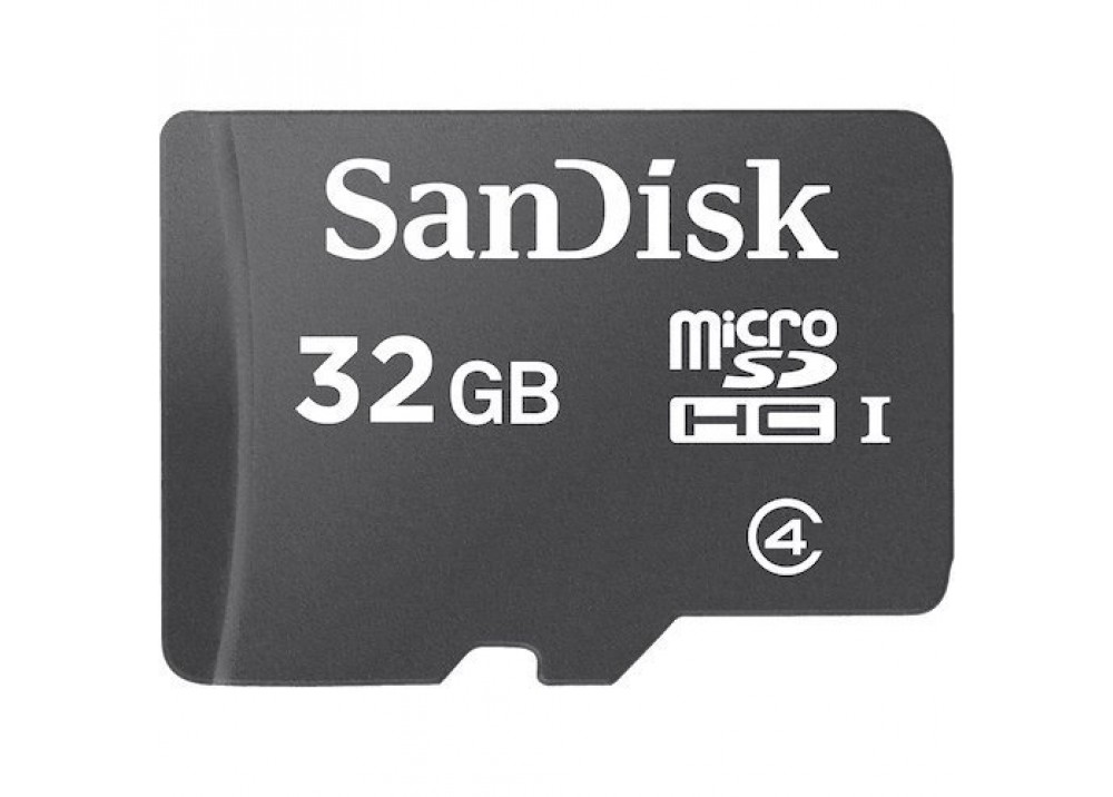 SANDISK MICRO SD CARD SDHC 32GB C4 WITH ADAPTER
