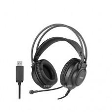 اي فور تيك سماعات رأس FH-200i USB أسود