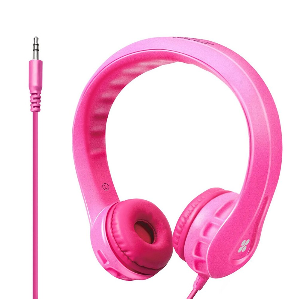 PROMATE STEREO WIRED HEADPHONE SOUL fOR KIDS FIEXURE PINK