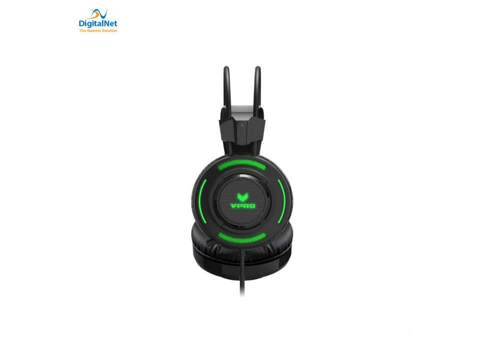 RAPOO GAMING HEADSET VH200 ILLUMINATED BLACK