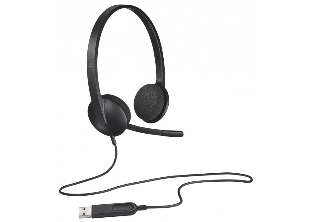 LOGITECH WIRED HEADSET H340 BLACK