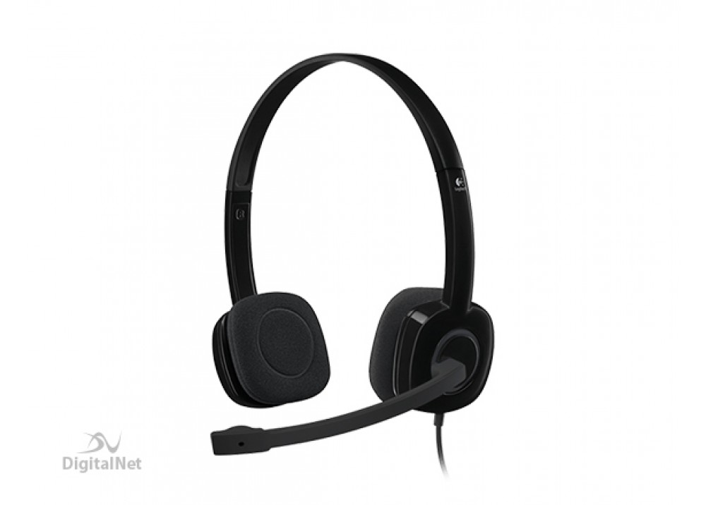 LOGITECH STEREO WIRED HEADSET H151 ANALOG EMEA,SGL JACK BLACK