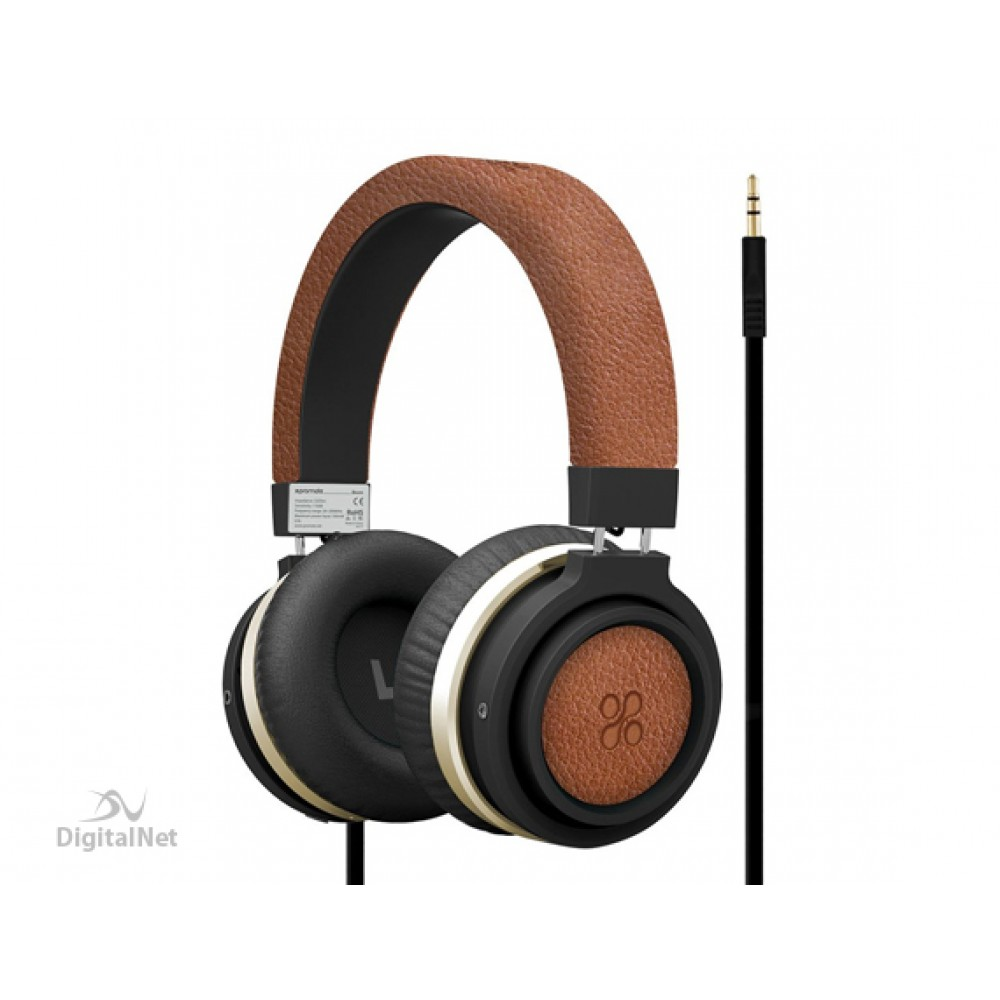 PROMATE DYNAMIC HI-FI STEREO WIRED HEADSET BOOM BROWN
