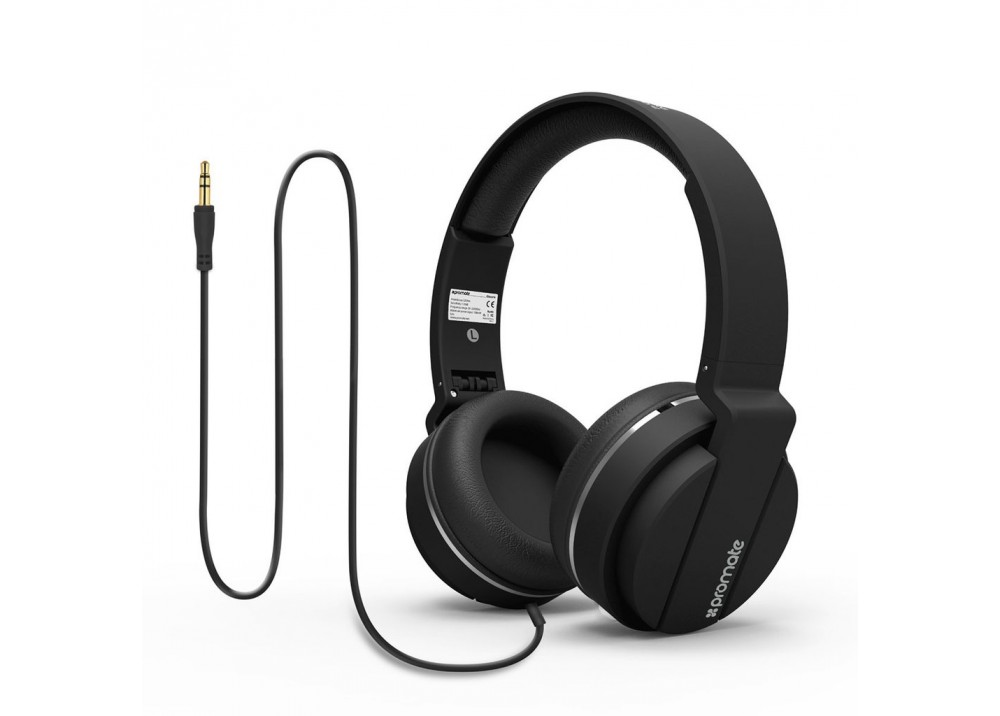 PROMATE STEREO WIRED HEADPHONE ENCORE BLACK