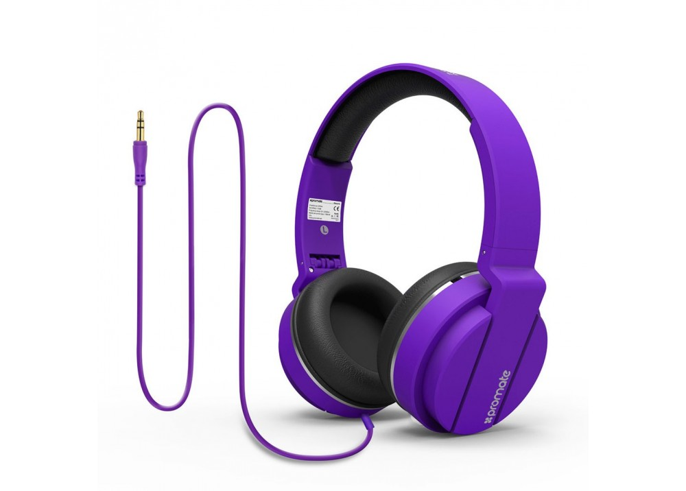 PROMATE STEREO WIRED HEADPHONE ENCORE PURPLE