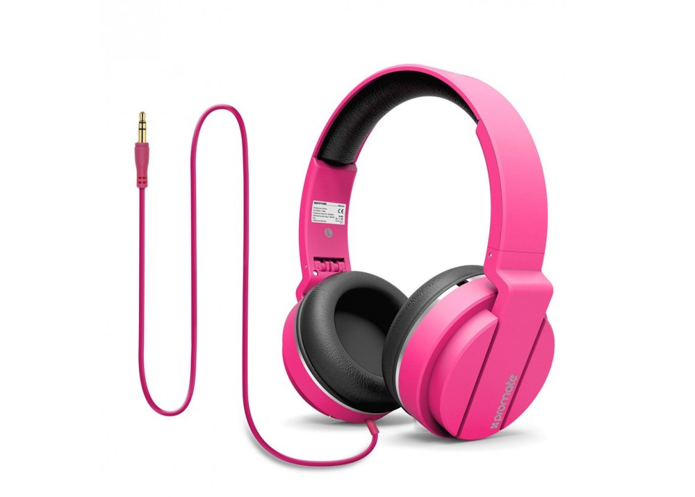 PROMATE STEREO WIRED HEADPHONE ENCORE PINK