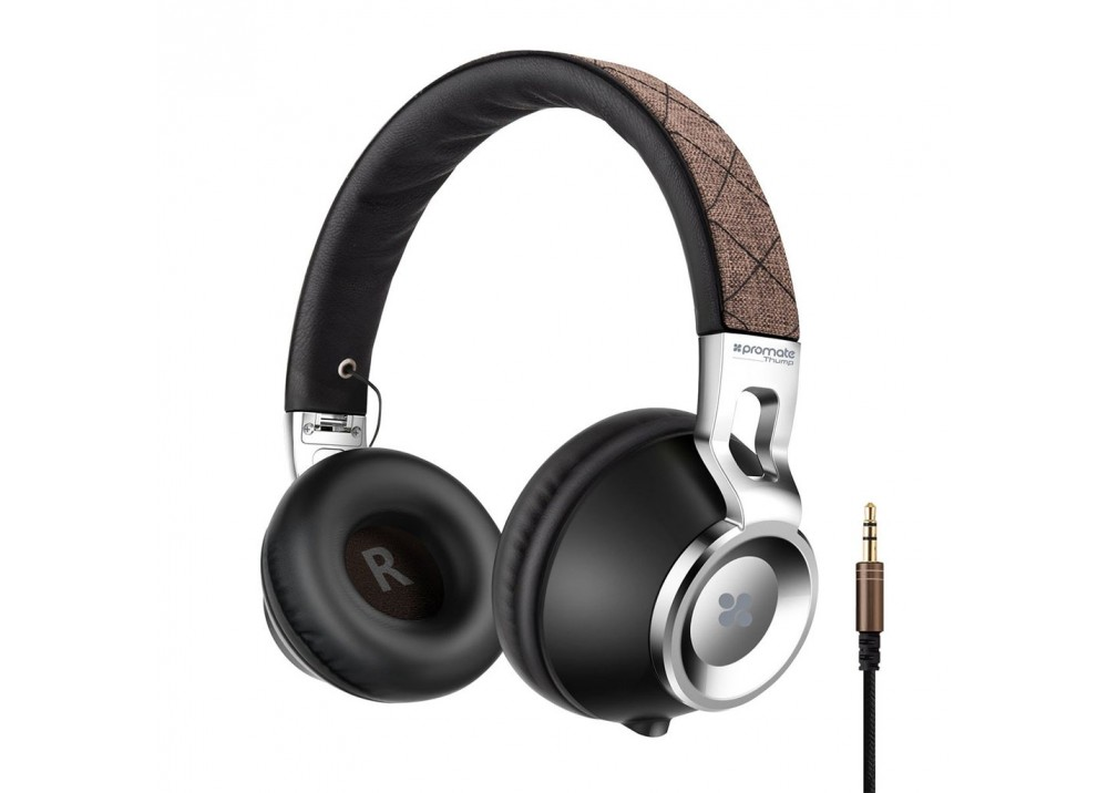 PROMATE STEREO WIRED HEADPHONE THUMP BROWN