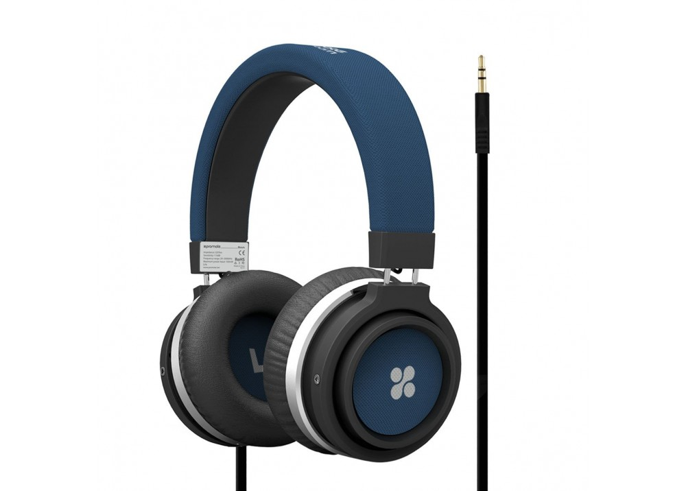 PROMATE STEREO WIRED HEADPHONE BOOM BLUE