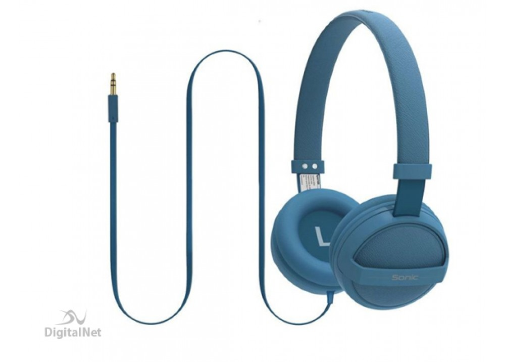 PROMATE STEREO WIRED HEADPHONE  KID FRIENDLY SONIC BLUE
