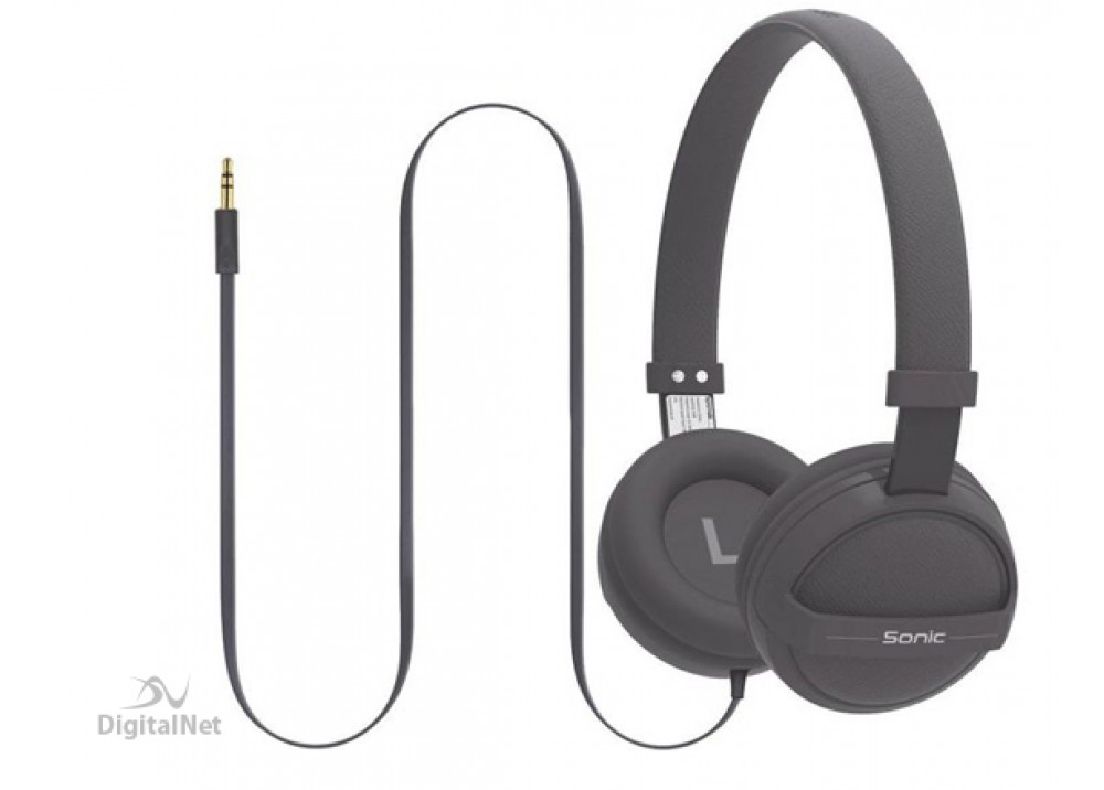 PROMATE STEREO WIRED HEADPHONE  KID FRIENDLY SONIC GRAY