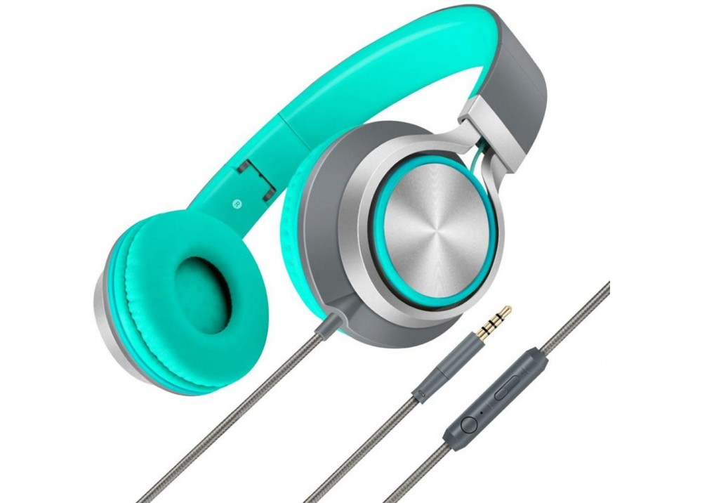 PROMATE STEREO WIRED HEADPHONE SPECTRUM GREEN