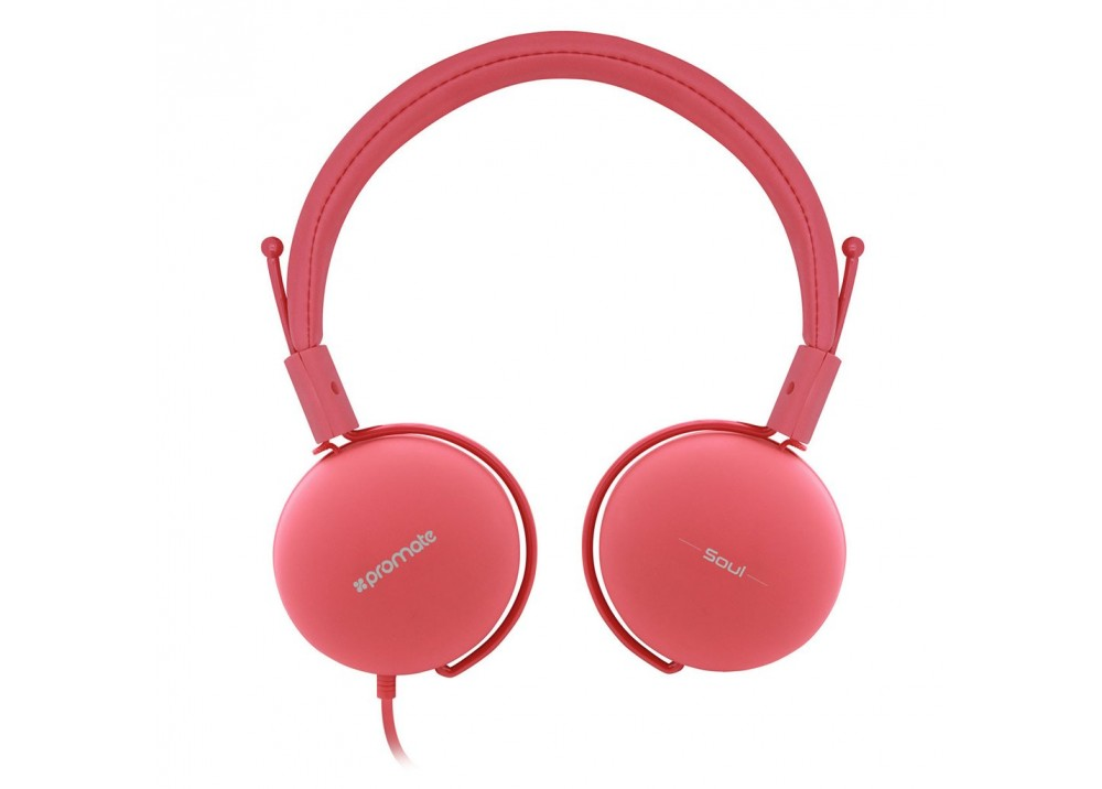 PROMATE STEREO WIRED HEADPHONE SOUL PINK