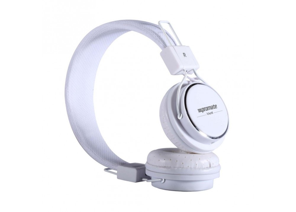PROMATE STEREO WIRED HEADPHONE VENT WHITE