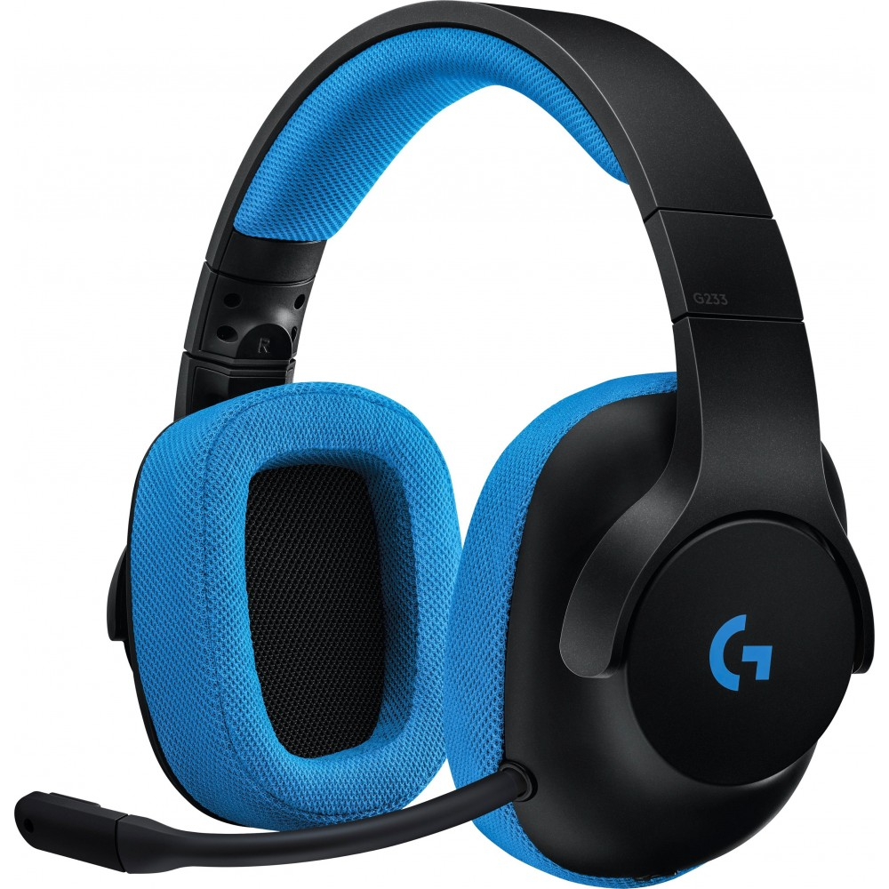 LOGITECH GAMING WIRED HEADSET G233 BLACK