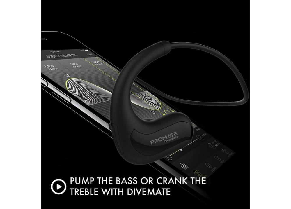PROMATE WIRELESS HEADSET  DIVEMATE 8GB BLACK