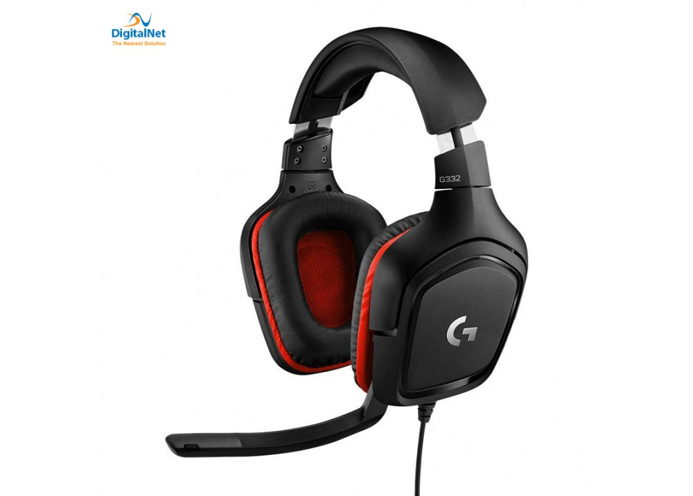 LOGITECH GAMING WIRED HEADSET G322 BLACK&RED