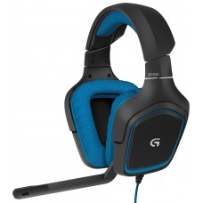 LOGITECH WIRED GAMING HEADSET SURROUND G430 BLACK AND BLUE