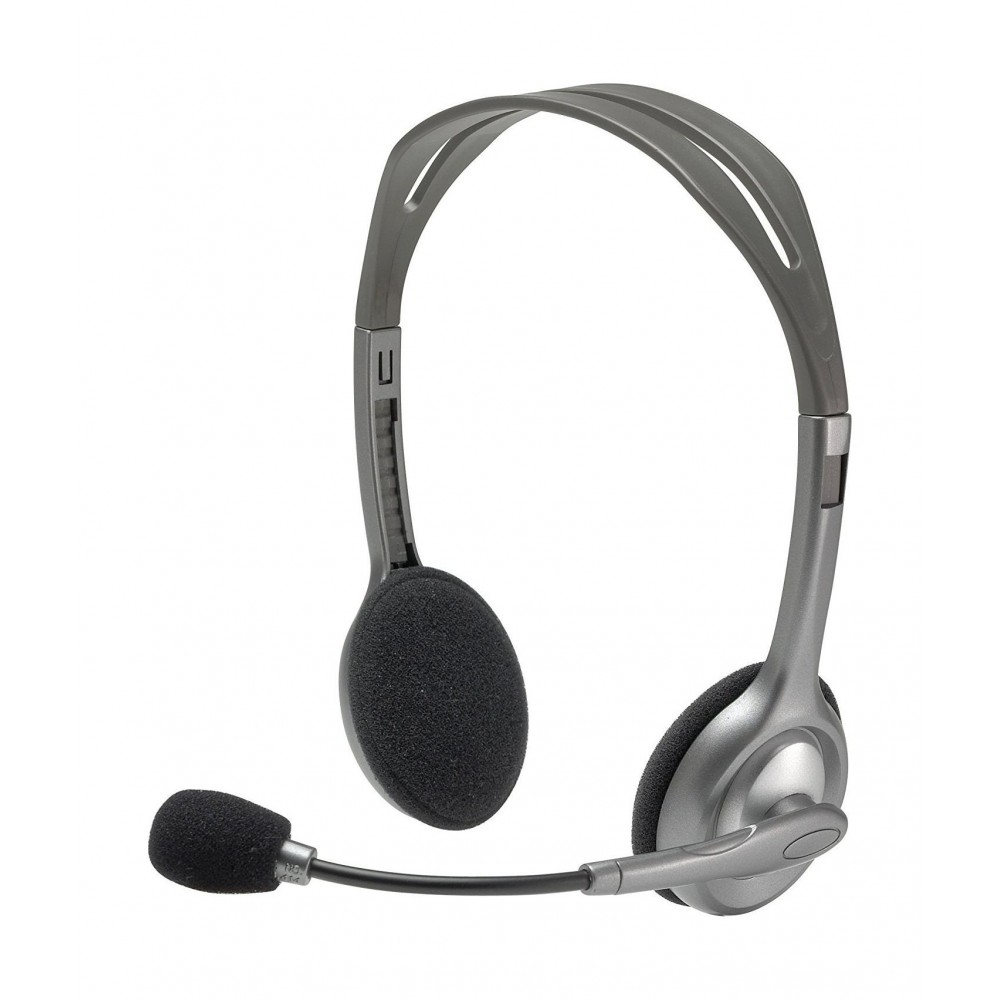 LOGITECH WIRED HEADSET H110 BLACK