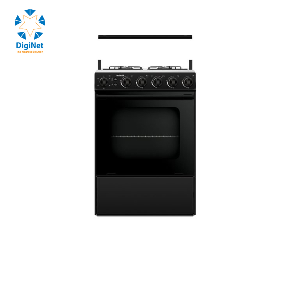 AL HAFEZ GAZ OVEN 4 HEADS STAINLESS STEEL MC 6419 G BLACK