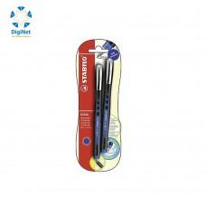 ستابيلو كرة رولر قلمين أزرق/أزرق0.5مم
